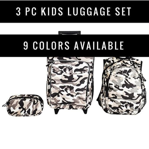 Obersee Little Kids 3 Piece Luggage Set - Obersee