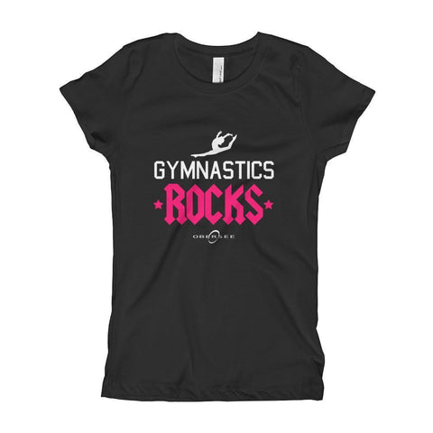 Obersee Gymnastics Girl's Youth T-Shirt - Vault Beam Floor Bars