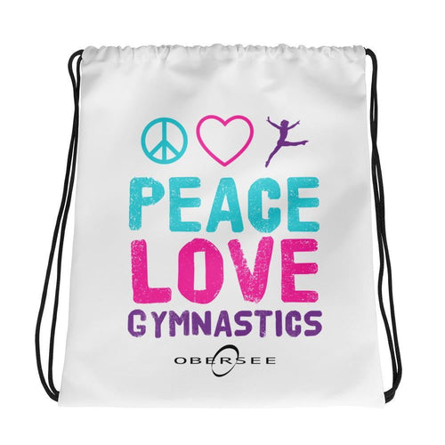 Obersee Drawstring Gym Bag - Peace Love Gymnastics - Obersee