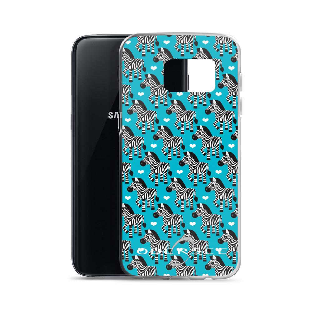 Obersee Turquoise Zebra Samsung Case - Obersee