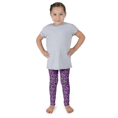 Obersee Purple Zebra Kid's leggings - Obersee