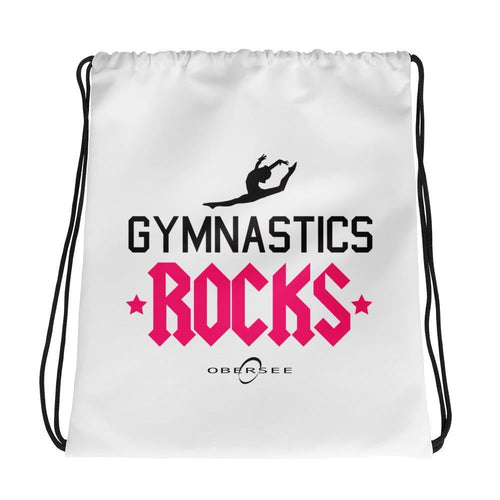 Obersee Drawstring Gym Bag - Gymnastics Rocks - Obersee