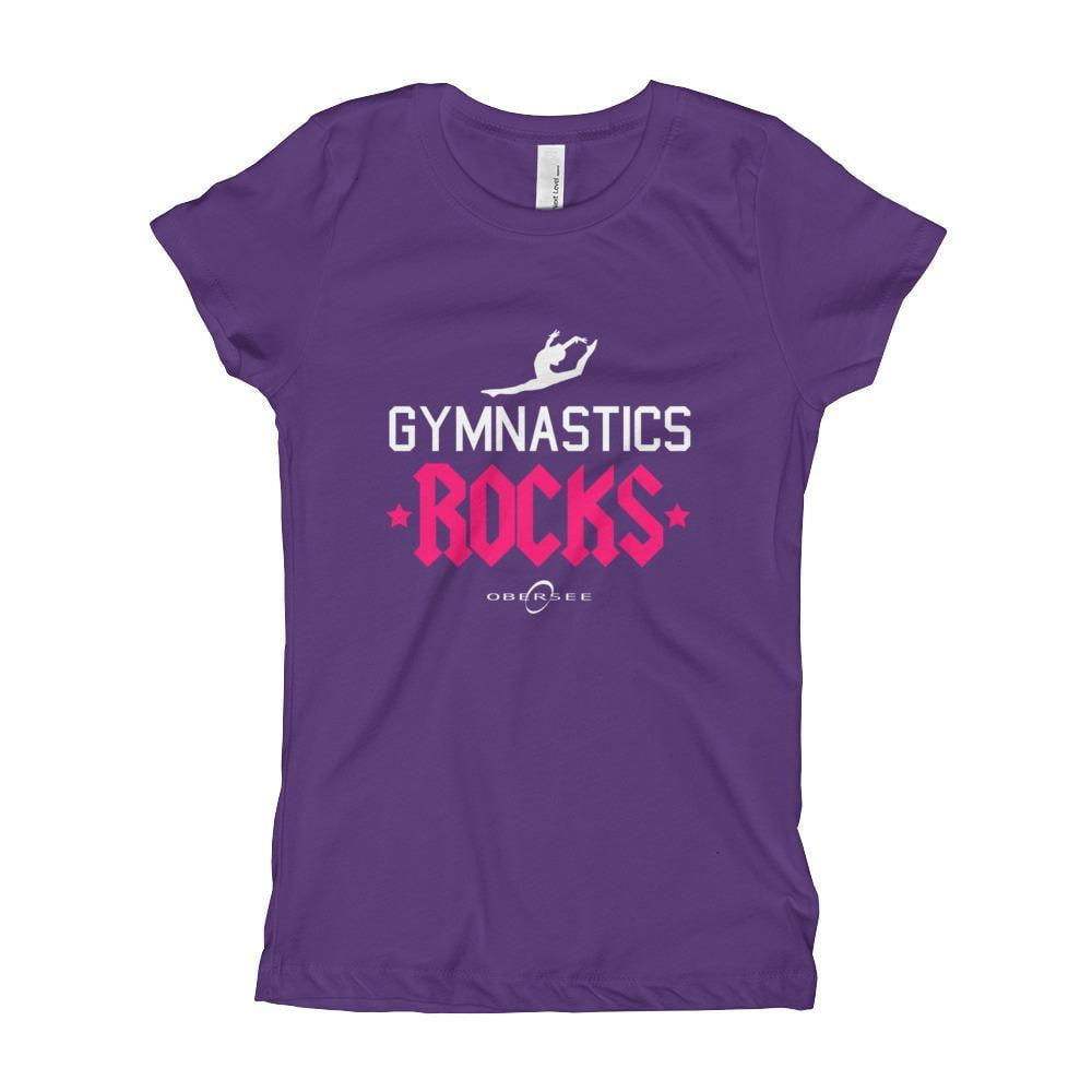 Obersee Gymnastics Girl's Youth T-Shirt - Gymnastics Rocks - Obersee