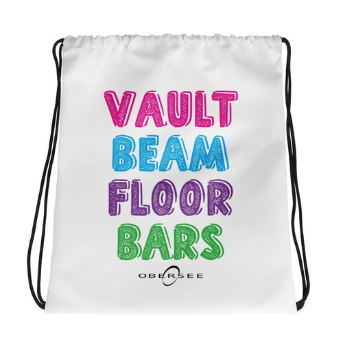 Obersee Drawstring Gym Bag - Vault Beam Floor Bars - Obersee