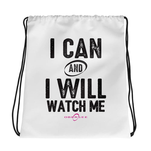 Obersee Drawstring Gym Bag - I Can and I Will - Obersee
