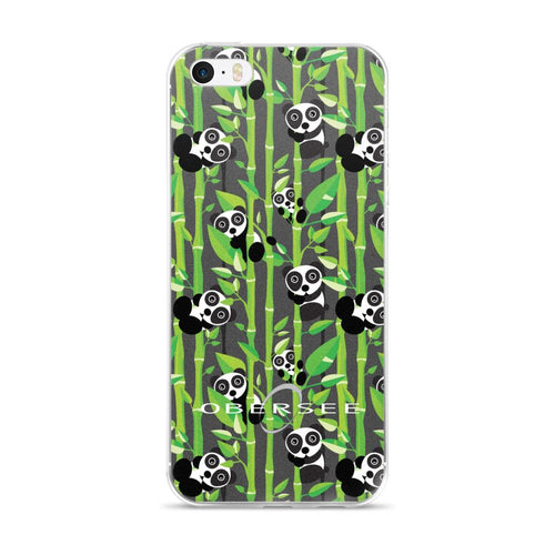 Obersee Grey Panda iPhone Case - Obersee