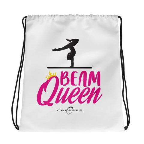 Obersee Drawstring Gym Bag - The Harder I Work the Luckier I Get