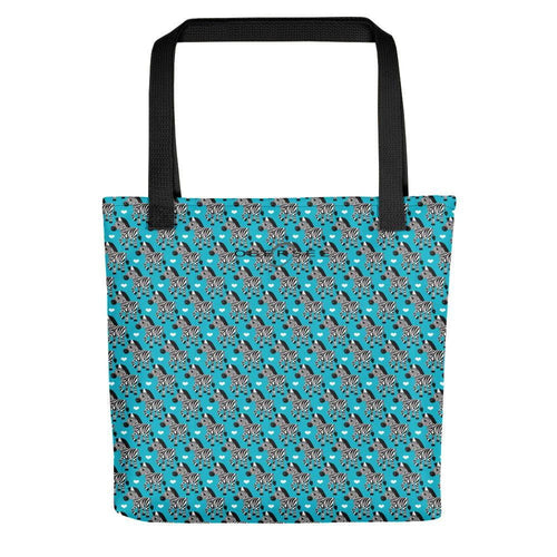 Obersee Turquoise Zebra Tote bag - Obersee