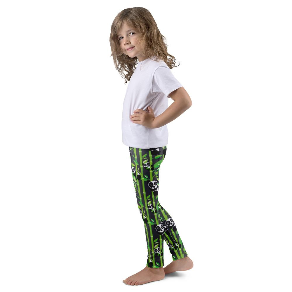 Obersee Kid's Grey Panda Leggings - Obersee