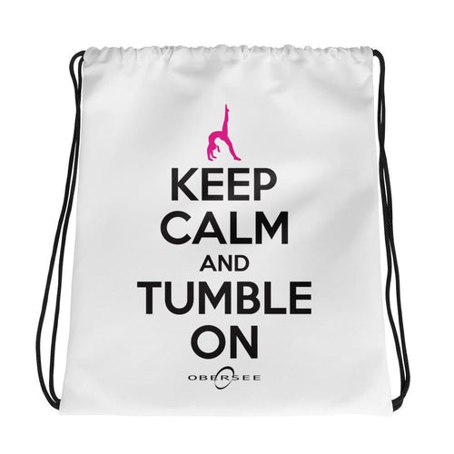 Obersee Drawstring Gym Bag - Keep Calm and Tumble On - Obersee