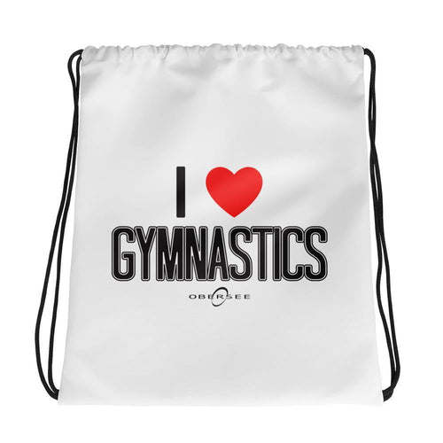 Obersee Drawstring Gym Bag - I Love Gymnastics - Obersee