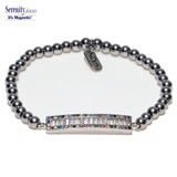 """Multi Crystal""  Zircon Magnetic Bracelet"