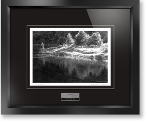 "Framed limited edition print of original Doug Fluckiger drawing ""Tranquility"""