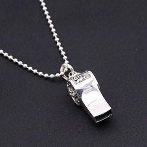 925 Sterling Silver Handcrafted Whistle Skull Pendant