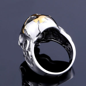 Stainless Steel Cross Skull Ring