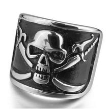 Stainless Steel Ring Skull with Crossed Swords