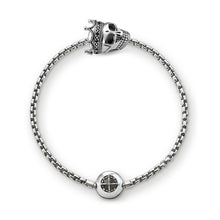 Beads Chain Bracelet With Skull King Karma Charm
