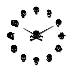 Skull Heads Giant Wall Clock