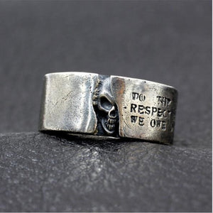 925 Sterling Silver Hidden Devil Skull Ring