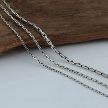 925 Silver Cross Bamboo Chain Necklace