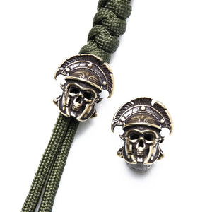 8 pcs Pure Brass Knife Beads Paracord Skulls