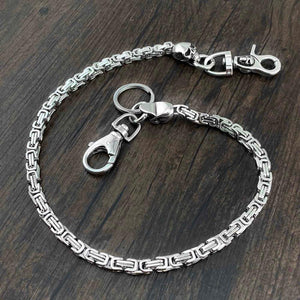 High Quality Stainless Steel Skull Head Biker Wallet Chain