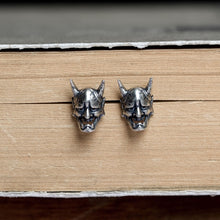 Vintage Demon Skull Stud Earrings