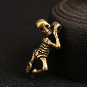 Creepy Punk Retro Brass Skull Baby