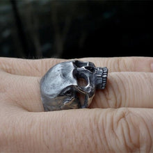 Unique 316L Stainless Steel Biker Skull Ring