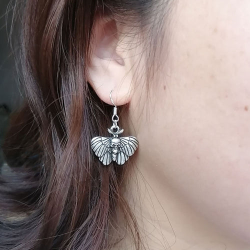 Death Head Moth Skull earrings