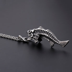 Charming Stainless Steel Skeleton Pendant Necklace
