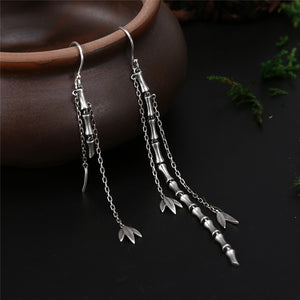 925 Sterling Silver Vintage Ethnic Drop Earrings