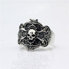 Resizable 925 Sterling Silver Pirate Skull Ring