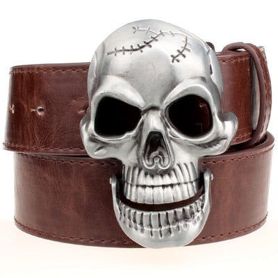 Rock Metal Buckle Big Skull Belts
