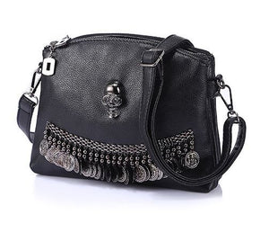 Women Tassel Skull Chain Handbag