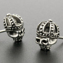 Stainless Steel Crown Skull Stud Earrings