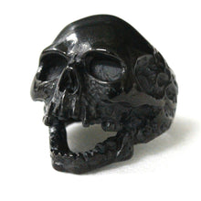 Black Silver Huge Death Skull Ring