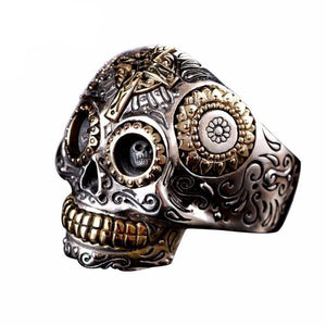 Solid 925 Sterling Silver Skull Ring