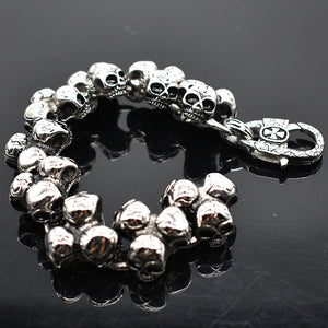 Punk Rock Stainless Steel Skull Bracelet