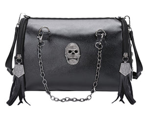 Skull Shoulder Tassel Bag