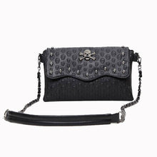 Vintage Clutch Skull Women Shoulder Bags
