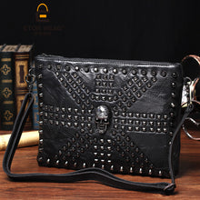 Vintage Men's Messenger Skull Bag