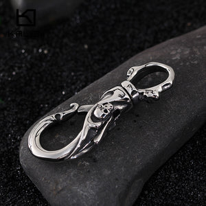 High Quality Stainless Steel Skull Keychains