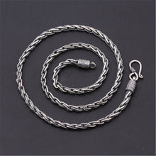 4mm 100% Pure 925 Sterling Silver Hand-woven Twisted Necklace