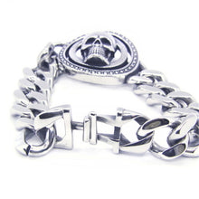 Stainless Steel Hot Biker Skull Bracelet