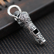 925 Sterling Silver Unique Whistle Skull Pendants