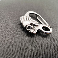 Stainless Steel Indian Tribes Skull Keychain