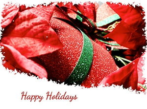 Red, Green, White Happy Holidays Presents, Wrapping eCard