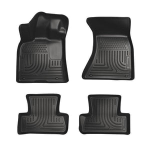 Huskyliner Front & 2nd Row Weatherbeater Black Floor Liners 2011-2018 Dodge Charger / Chrysler 300C AWD