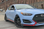 19+ Hyundai Veloster N Black UR Mud Flap Red Logo